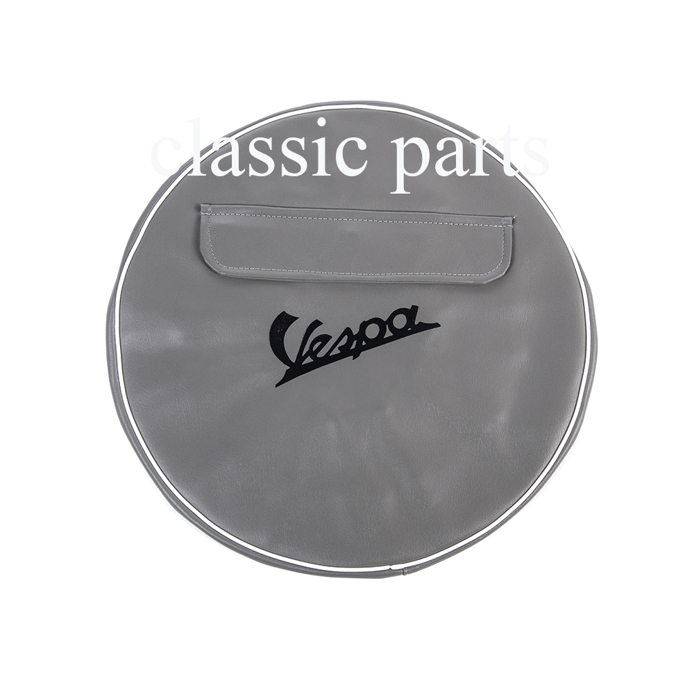 Reservewiel cover 10 inch grijs vespa classic parts for Ukuran box salon 8 inch